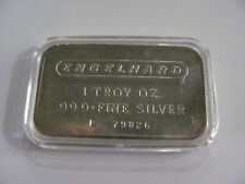 ENGELHARD 1 OZ .999+ FINE SILVER BAR Low Serial # P 79826 FROSTED BACK