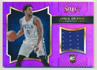 2015-16 Select Rookie Swatches Prizms Purple #1 Jahlil Okafor Jersey /99