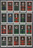 1927 Stephen Mitchell Clan Tartans Tobacco Cards Complete Set of 25