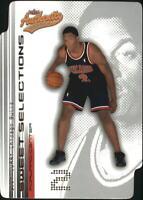 2001-02 Fleer Authentix Sweet Selections Bulls Basketball Card #4 Eddy Curry