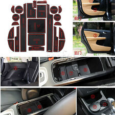 23pcs red Interior Door Gate Non-slip Cup Pad Mat For Dodge Journey 2013 2014