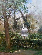 Gustave GARAUD 1844-1914 Le Parc De Versailles Peinture