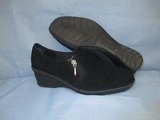 Womens Shoes CROFT BARROWS SOLE SENSE ABLILTY Size 7 1/2 BLACK WEDGE SHOOTIE LN