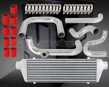 RED 92-95 HONDA CIVIC EG EJ EH D15 D16 BOLT ON TURBO INTERCOOLER + PIPING KIT