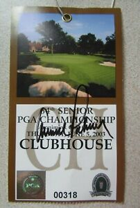 ARNOLD PALMER SIGNED 2003 64TH SENIOR PGA CHAMPIONSHIP CLUBHOUSE TICKET STUB
