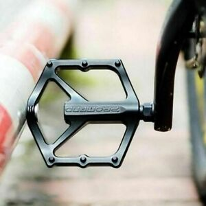 "Pair Bicycle Road Mountain MTB Bike Pedals Aluminum Alloy Flat Platform 9/16"""