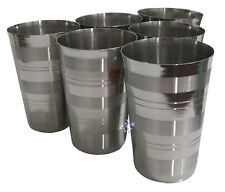 Set Of 40 Tall Stainless Steel Tumbler Glass Drink Beer Water Cup Camping Travel