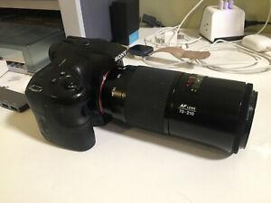 Sony Alpha SLT-A65 24.3MP Digital SLR Camera - Black with Minolta 70-210 lens
