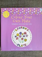 Paint Your Own Plate Set