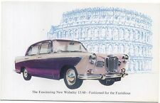 Wolseley 15/60 Original Factory Issued colour Postcard