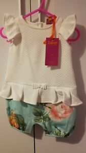 6 To 9 Mths Girls Ted Baker Romper Suit BNWT