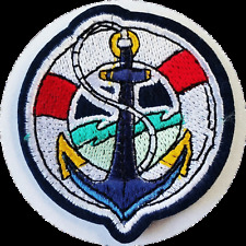 ANCHOR SAILORS PATCH IRON/SEW ON EMBROIDERED PATCH CAPTAIN VEST BOAT SAIL FISH