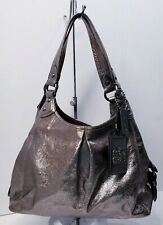 COACH Maggie Gunmetal Metallic Maggie 15259 Limited Edition Tote Hobo Bag