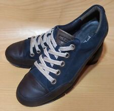 Paul Green Munchen Womens Blue Suede Sneakers Shoes Size 5