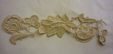 OLD VINTAGE HAND MADE LACE PIECE UNUSED