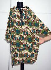 MARNI H&M hooded Lagenlook silk parka jacket coat dress; Size:US 6 EU 36