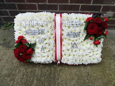 OPEN  BOOK  FRESH FLOWERS FUNERAL/MEMORIAL/ TRIBUTE Free Delivery in Thurrock