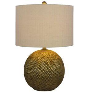 "NEW Fangio Lighting 23.5"" Resin Table Lamp Gold Finish 6205GLD"