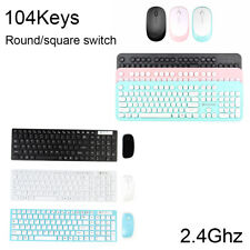 2.4GHz Wireless Gaming Keyboard and Mouse Combo Set USB Receiver For PC Laptop