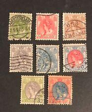 Netherlands postage stamps lot of 8 old Queen Wilhelmina 1891-1924          De