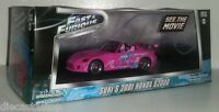 1:43 Scale Greenlight Fast and Furious Suki's 2001 Honda S2000 - Pink