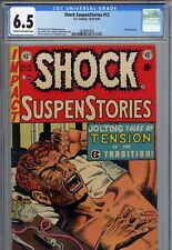 Shock SuspenStories #12 CGC 6.5 CR/OW Classic EC Pre-Code Horror Anti-Drug Cover
