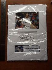 Jonathan Woodgate Hand Signed Photo Mounted Display A4 Real Madrid Leeds Boro