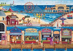 "Jigsaw puzzle Americana Ocean Park Amusement Boardwalk 2000 Piece NEW 27""x39"""