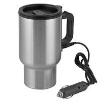 12V 500ml Edelstahl Elektrisch Wasserkocher Teekocher Heizung für Reise KFZ Auto
