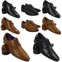 NEW MENS SMART OFFICE BROGUE WEDDING WORK LACE UP PARTY CASUAL FORMAL SHOES SIZE