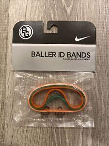 NEW Nike Vtg Baller ID Bands Bracelets Orange White Marble 3 Pack Basketball BG