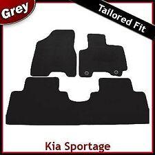 KIA SPORTAGE Mk2 2004-2008 2-Occhielli montati su misura tappetini auto moquette grigio