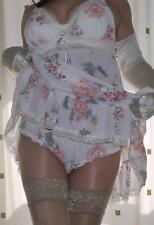 Secrets FLOTTANTE Floral Transparent Transparent~Chemise~Nuisette & culotte
