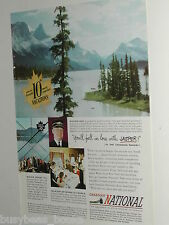 1949 Canadian National Railways ad, Jasper Maligne Lake