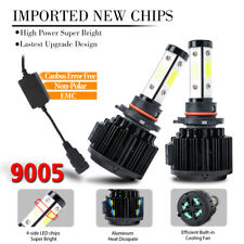 9005 4side LED Headlight Bulb HIGH BEAM Super Bright 6000K 1800W 270000LM CANBus