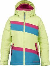 Burton Girls' Hart Insulated Winter Ski Jacket Coat - Green (Medium)