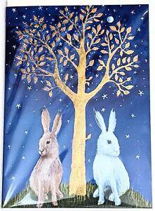 hare birthday greetings card pagan wife goddess fox owl solstice yule christmas