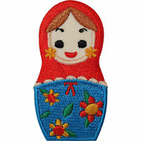 Russian Doll Embroidered Iron / Sew On Patch T Shirt Jeans Dress Skirt Bag Badge