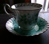 Royal Albert Fine China Melody Series Nocturna Teacup And Saucer 1960s