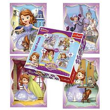 Trefl 4 in 1 35 + 48 + 54 + 70 PEZZI Ragazze Kids Sofia The First Puzzle