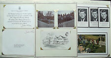 President John F. Kennedy Vintage Collection Kennedy Library & Pray Card & Photo