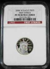2006-W $25 1/4 .9995 Proof Platinum Eagle NGC PF 70 UC First Strikes - POP 37