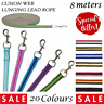 Padded HORSE & DOG lead ROPE LUNGE LINE LEAD 22 Colours - 8 Mtrs