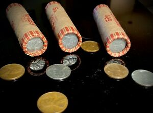 Wheat Penny Rolls (1909-1958) - P/D/S - Unsearched - Double Steel Penny Ends