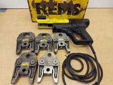 Roller Rems Power-Press ACC Pressmaschine Presszange 5x M Pressbacken Mapress