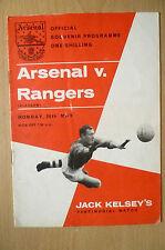 Jack Kelsey's Testimonial 1962/63- ARSENAL v RANGERS, 20th May