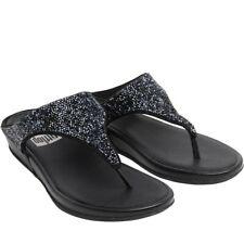 fa44b1c5b29af1 New Size 5 FitFlop Ladies Womens Banda Crystal Toe Post Summer Sandals Black