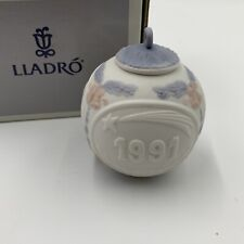 Lladro Christmas Ball Ornament Bola Navidad 1991 M5829 Used in Original Box