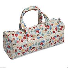Knitting Bag Sewing Bag, soft handles. Vintage Buttons Design 14 x 44.5 x 16.5cm