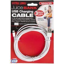 3m Metre iPhone iPad 5 / 6 / 7 Juice Bank USB Sync Charging Cable Lightning Long